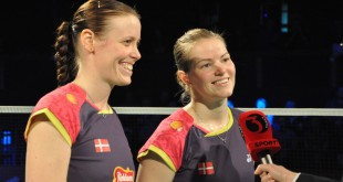 Kamilla Rytter Juhl og Christinna Pedersen spiller OL-semifinale. Foto @ Annette Vollertzen