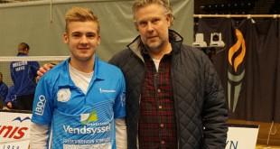 Victor Svendsen præsenteret i Arena Nord i går af Henrik Geisler. Foto @ VEB