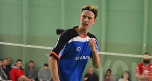 Kasper Dinesen. Foto  @ Højbjerg Badminton Klub