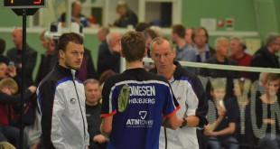 Michael Kjeldsen (th) i action for Højbjerg. Foto @ Tine Bay