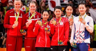 Kamilla Rytter Juhl Christinna Pedersen OL Rio  - prømieoverrækkelse. Foto @ Shi Tang