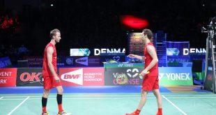 Mathias Boe og Carsten Mogensen holdt ikke til finalen ved Denmark Open. Foto: BadmintonBladet
